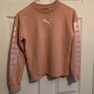 Puma Sweatshirt Pink Youth Girls L(12-14)